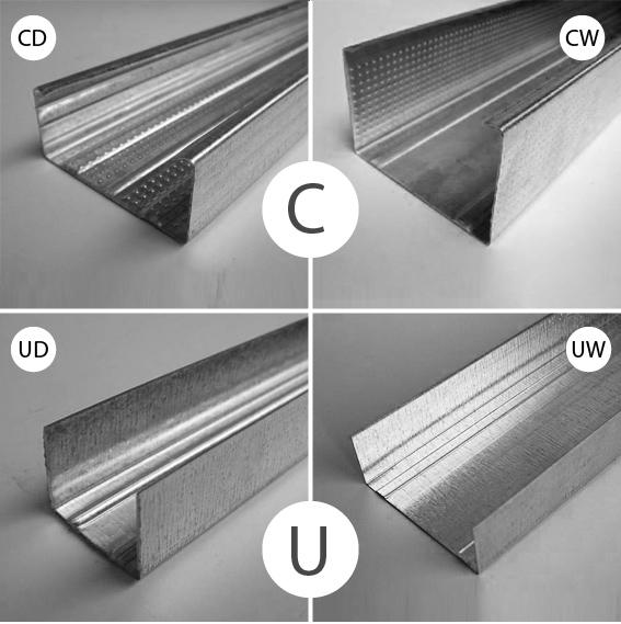 До начала работы по созданию потолка из МДФ запаситесь оцинкованными металлическими профилями типа UD и CD, которые будут необходимы для создания силового каркаса