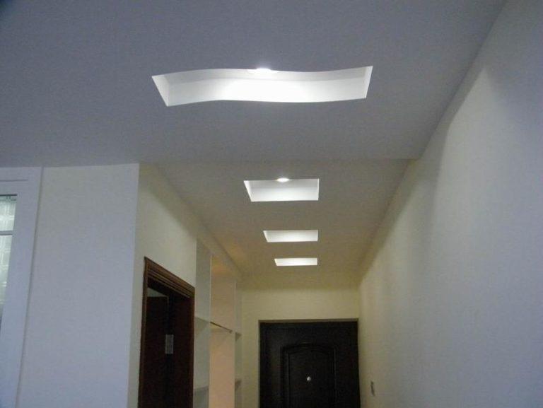 Дизайн потолка из гипсокартона коридор