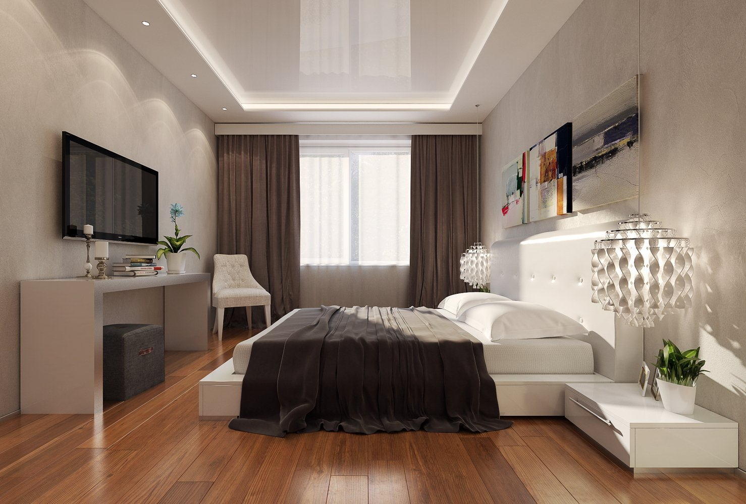 Потолок спальня фото дизайн