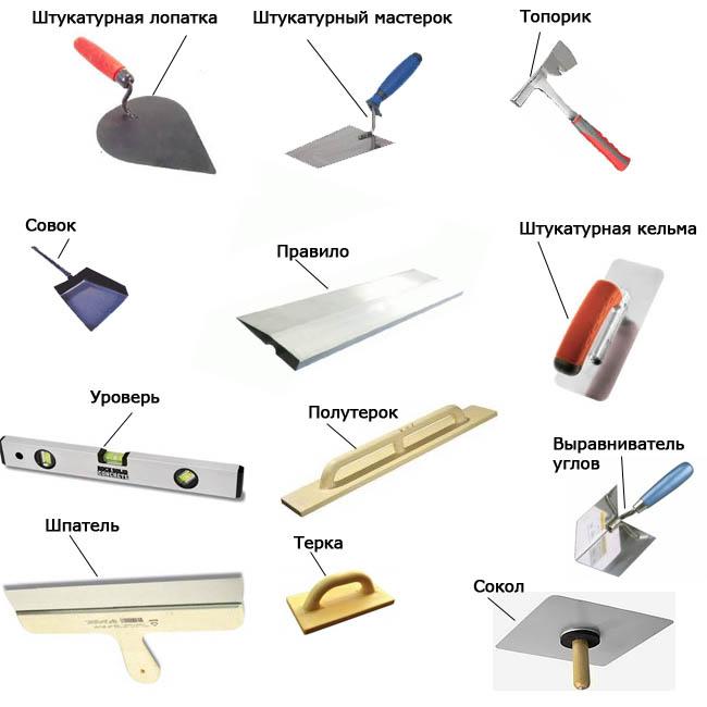 Инструменты, необходимые для выравнивания потолка