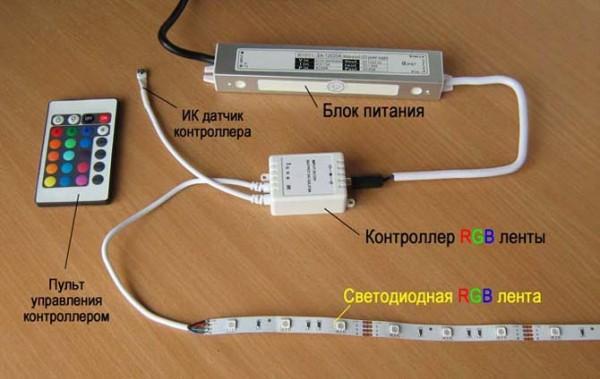 Из чего состоит подсветка - компоненты и комплектующие для светодиодной ленты