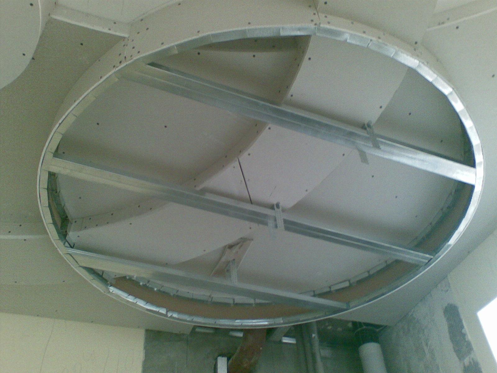 Каркас для гипсокартонного короба на потолке