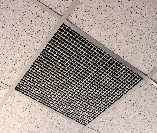 Кассета со спец. решеткой для вентиляции для потолков