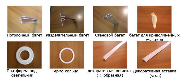 Комплектующие, необходимые для монтажа и отделочных работ