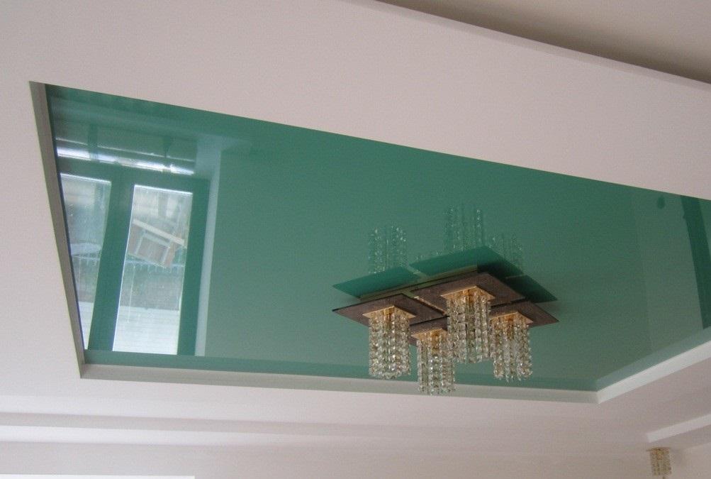 Короб из гипсокартона вокруг натяжного потолка