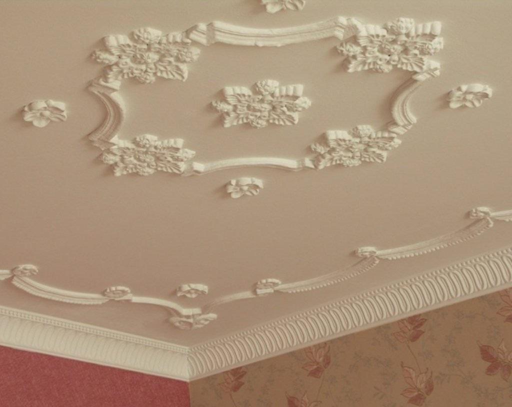 Лепнина на потолке из пенопласта