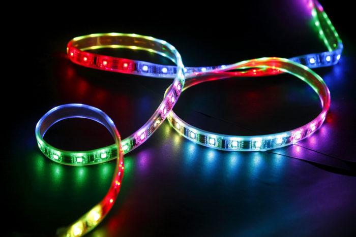 Многоцветная диодная лента, RGB лента
