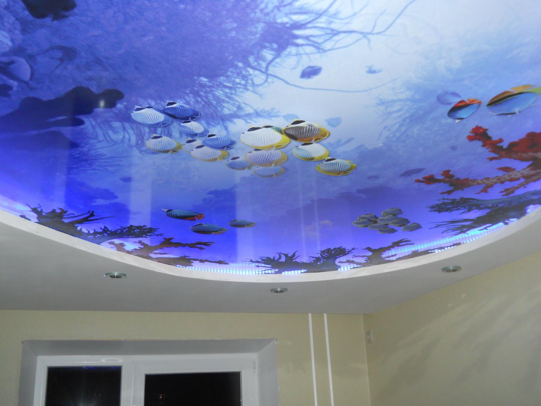 Многослойный 3D потолок