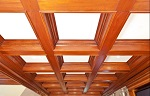 Монтаж кессона на потолок