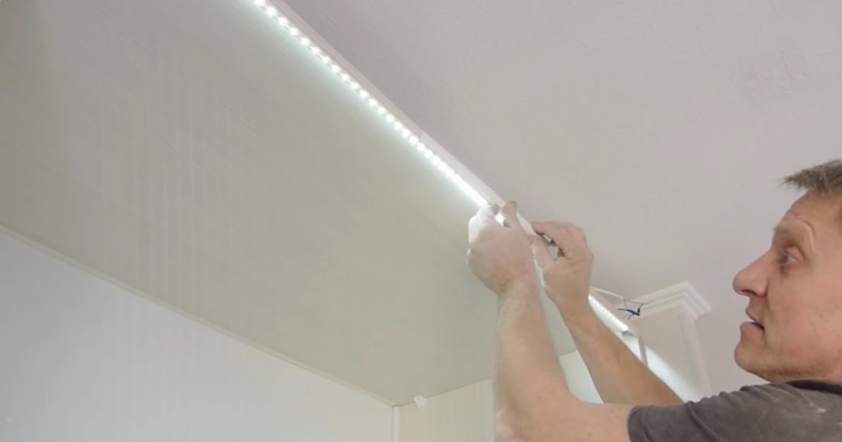 Монтаж светодиодной подсветки