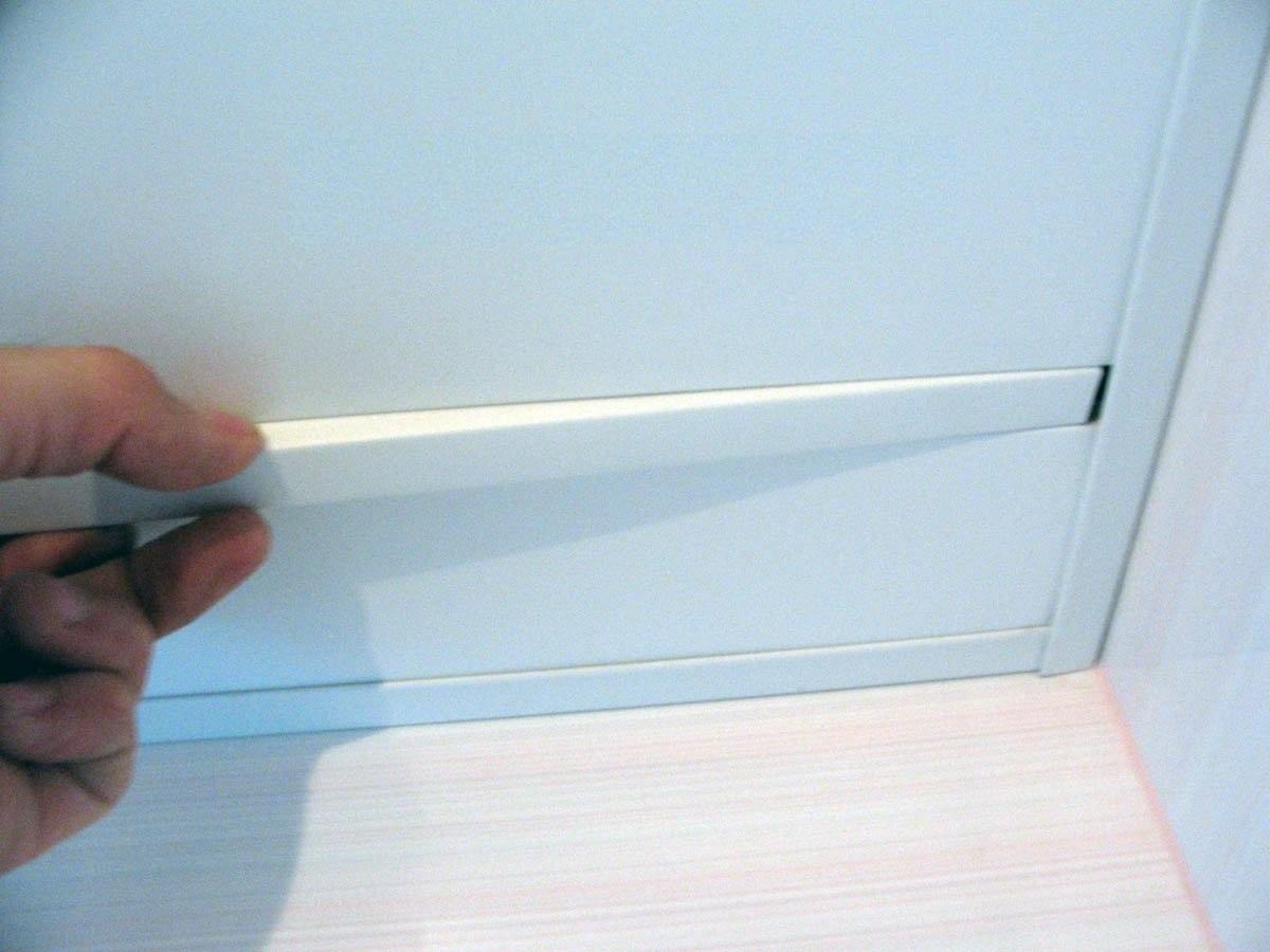 Монтаж вставки для реечного потолка