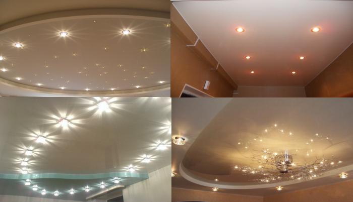 Натяжной потолок и выбор освещения