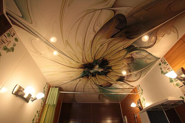 Натяжной потолок под роспись