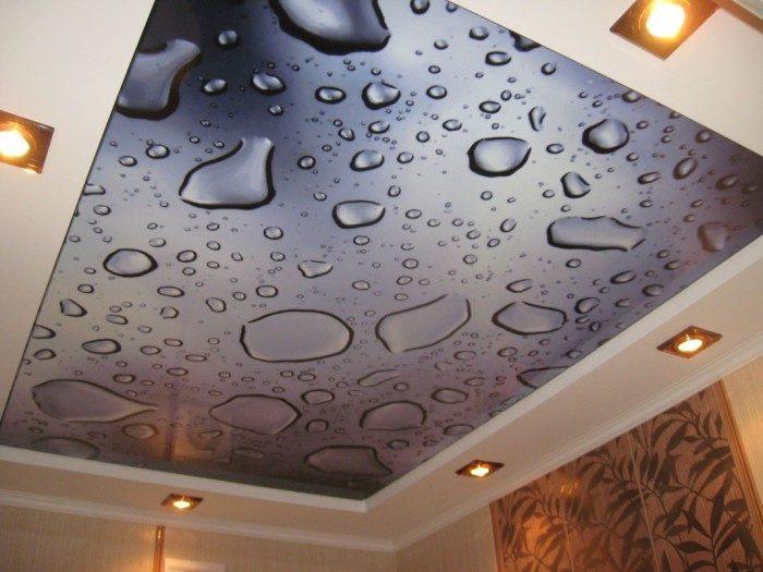 Натяжной потолок с очень реалистичной 3D печатью