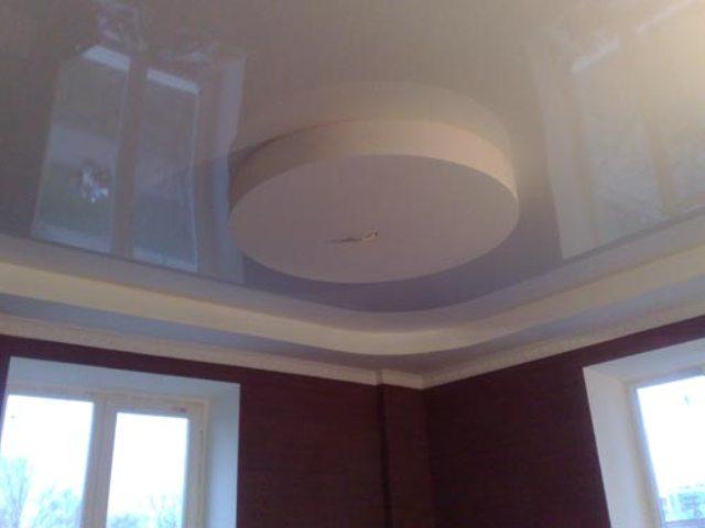 Натяжные потолки в сочетании с гипсокартоном