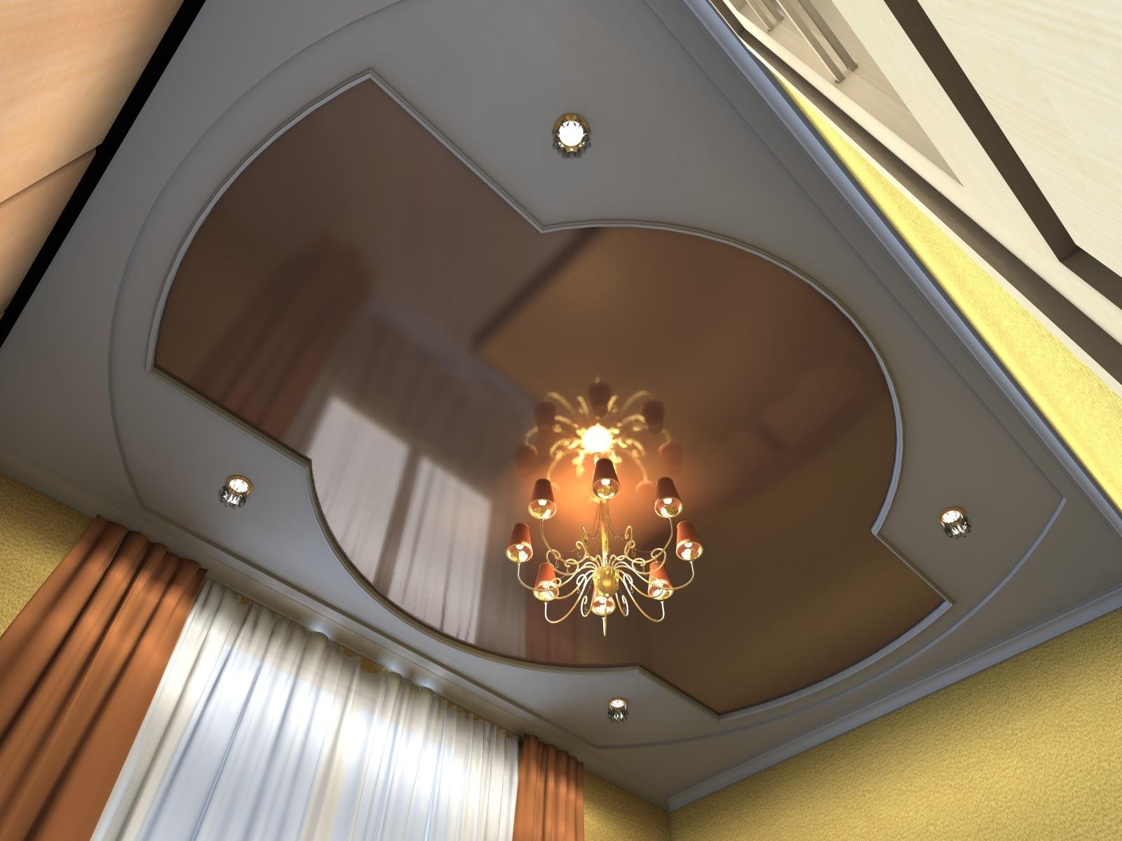 Натяжные потолки в спальне: дизайн