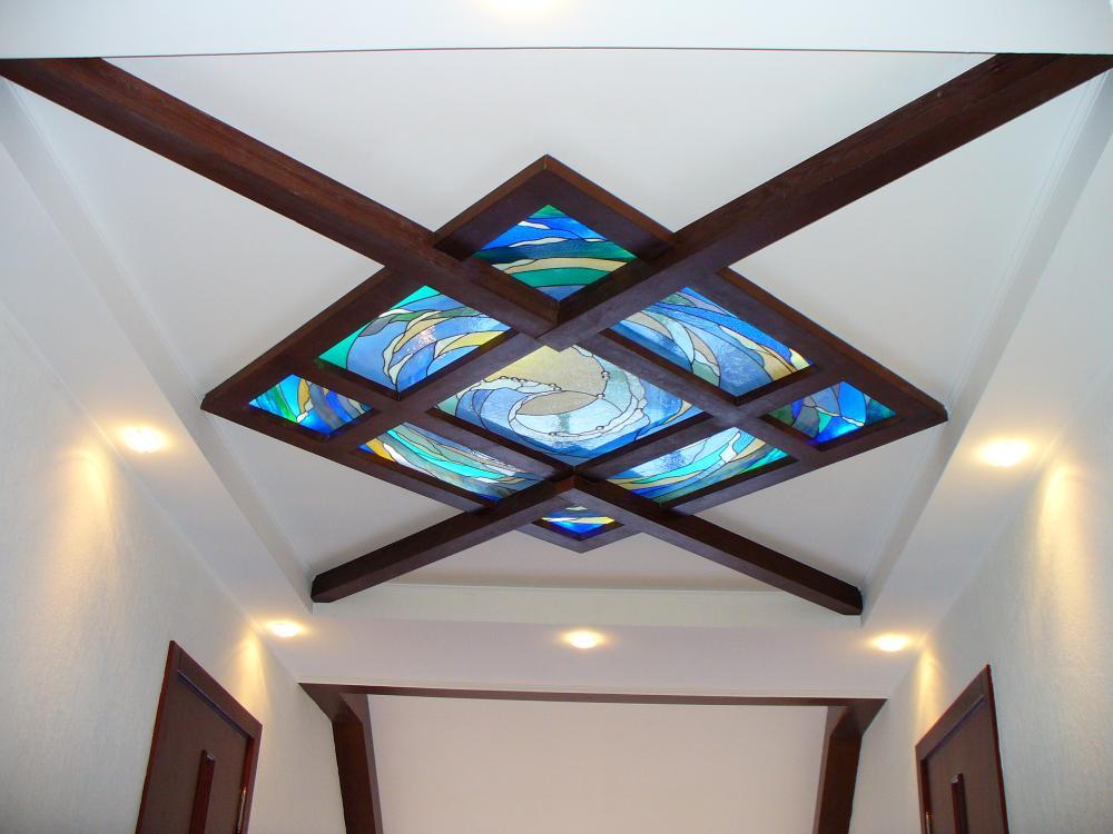 Нестандартный витражный потолок