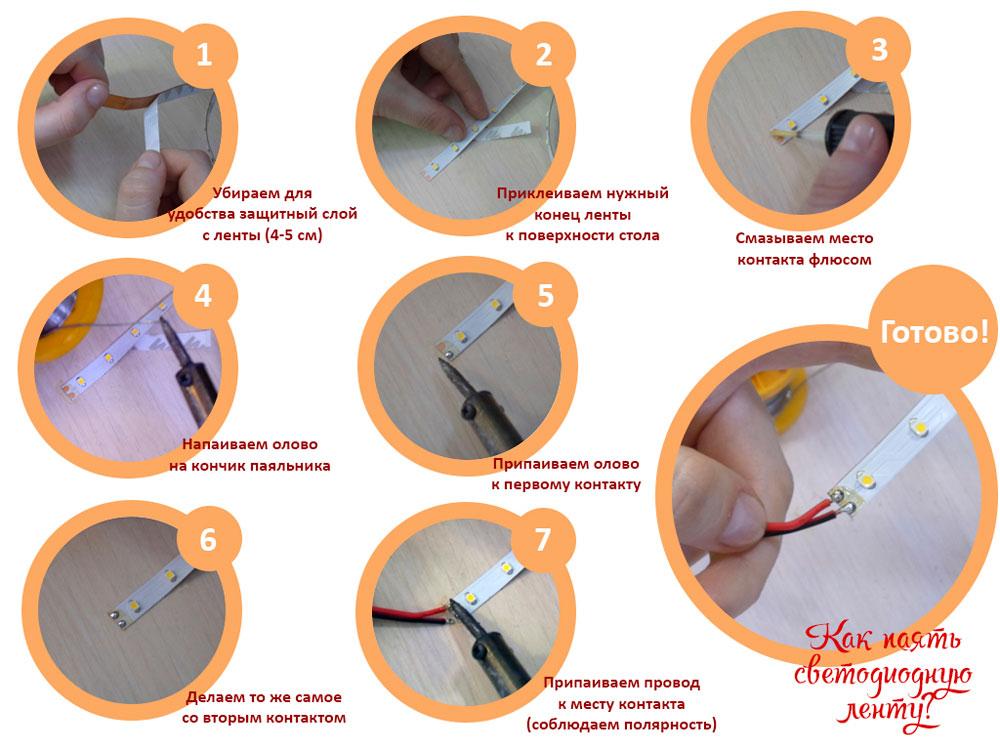 Монтаж блока питания светодиодной ленты своими руками