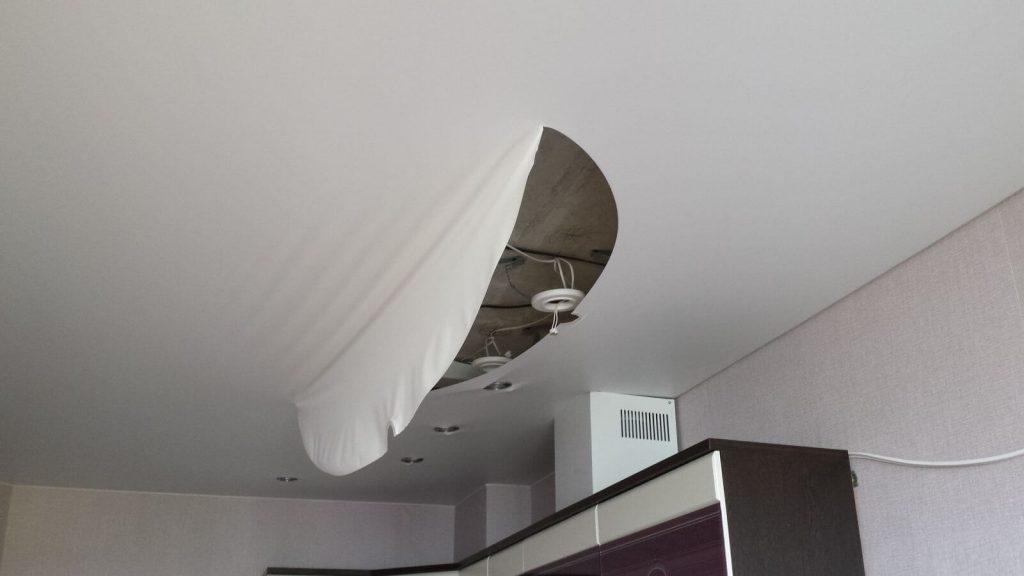 Перетяжка потолка натяжного