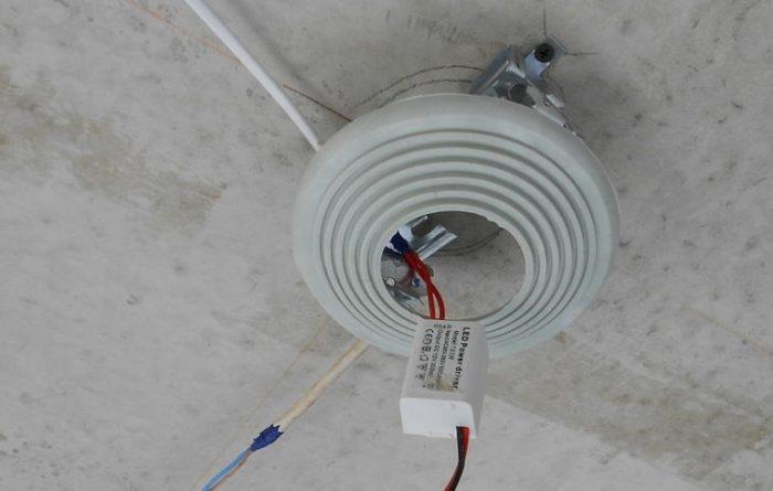 Платформа для монтажа точечного светильника