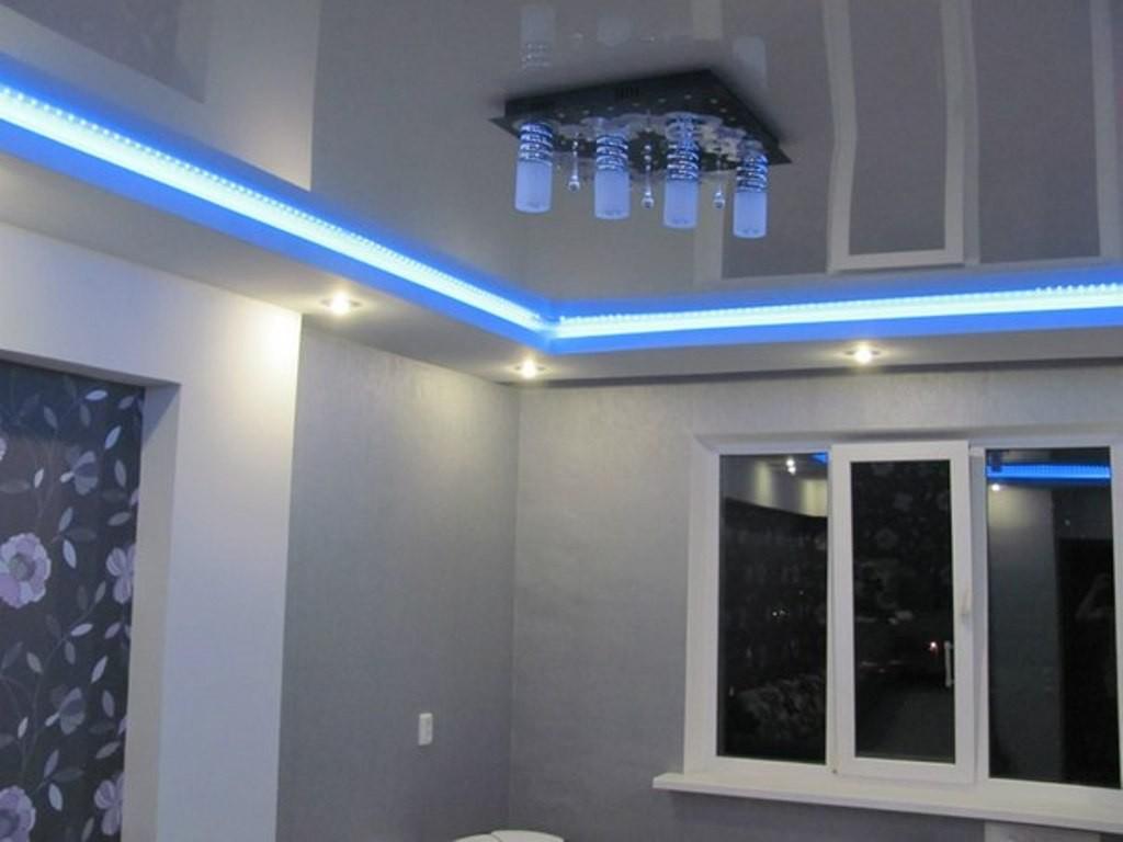 Подсветка потолка лентой своими руками