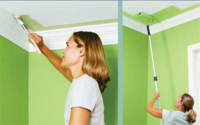Покраска потолка эмалью