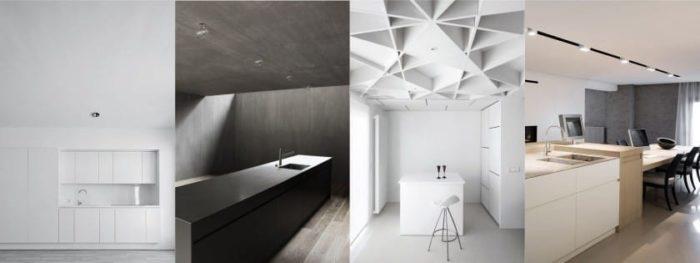 Потолок на кухне в стиле хай тек