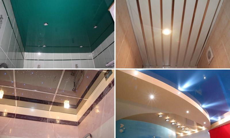 Потолок в ванную комнату - какой лучше