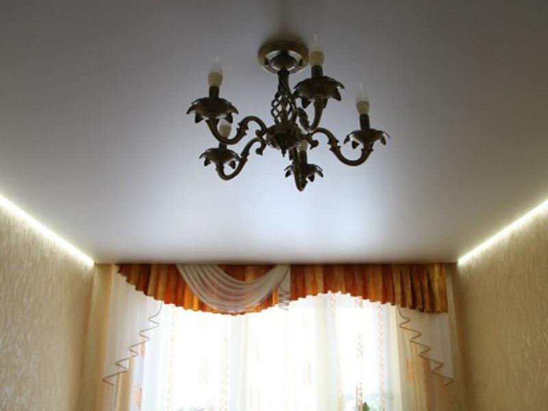 Пример натяжного парящего потолка 1