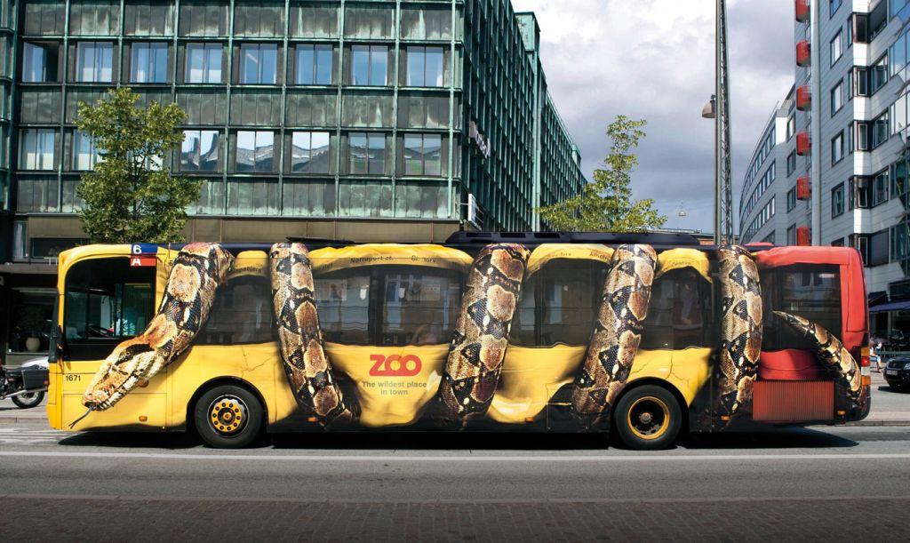 Пример сольвентной печати (городской автобус)