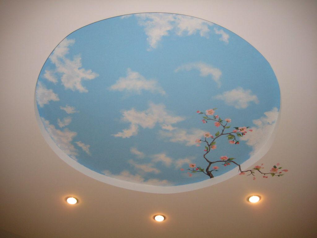 На потолке нарисовать небо своими руками 731