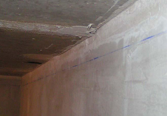 Ровная линия, нарисованная вдоль нити