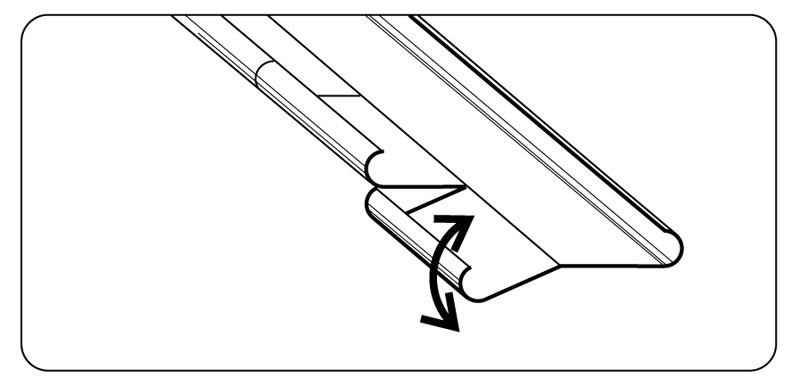 Схема резки последней рейки
