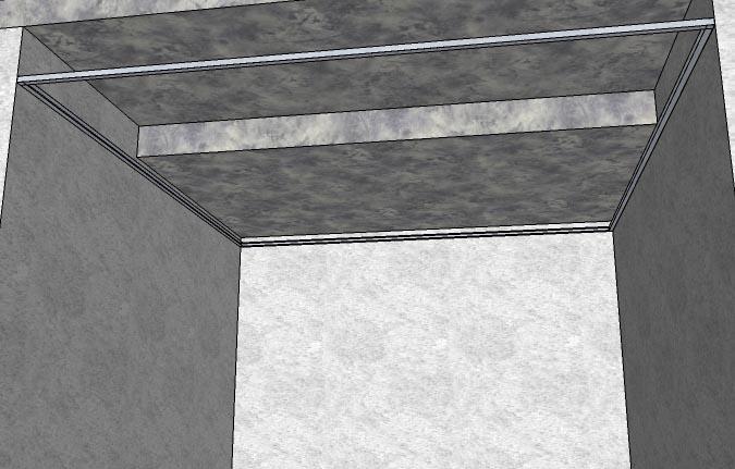 Стартовый профиль установлен по периметру помещения