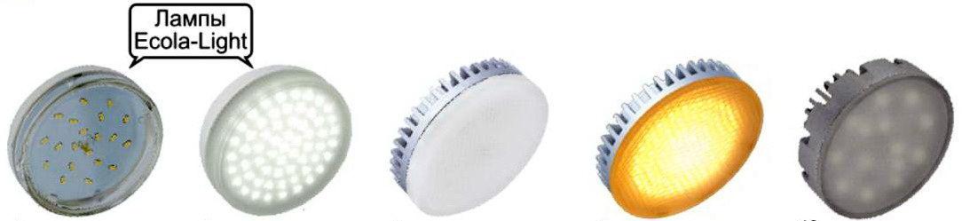 Светодиодные светильники ECOLA GX-53