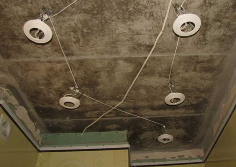 Проводка освещения в ванной комнате своими руками