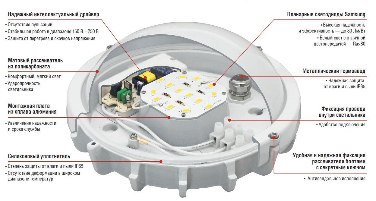 светильник на 12 в схема