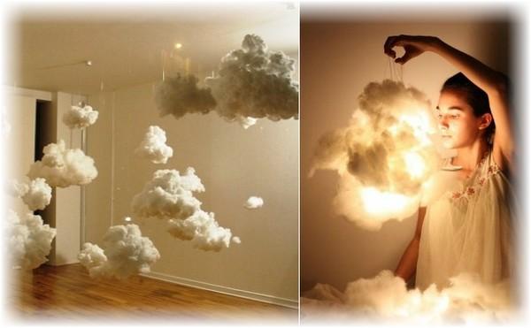 Ватные облака своими руками