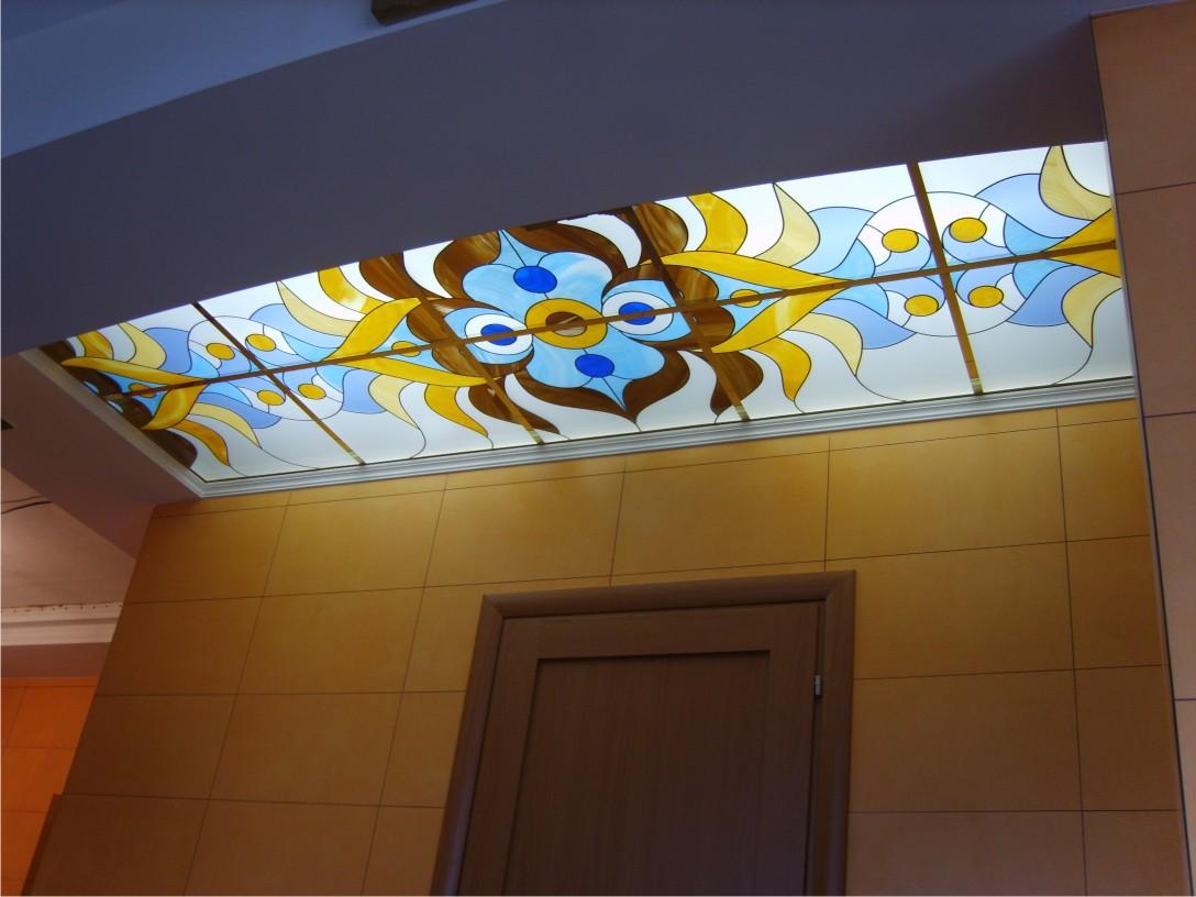Витражные потолки - виды, способы изготовления, монтаж