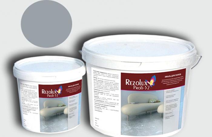 Эмаль акриловая для обоев под покраску, полов и других видов поверхностей Rezolux Profi-52 компании МИЦАР