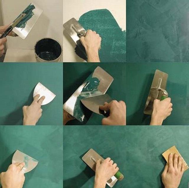Этапы нанесения фактурной декоративной штукатурки