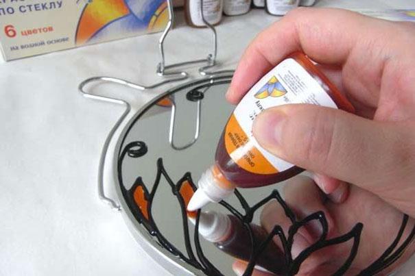 Заливка деталей после прорисовки контура специальной пастой