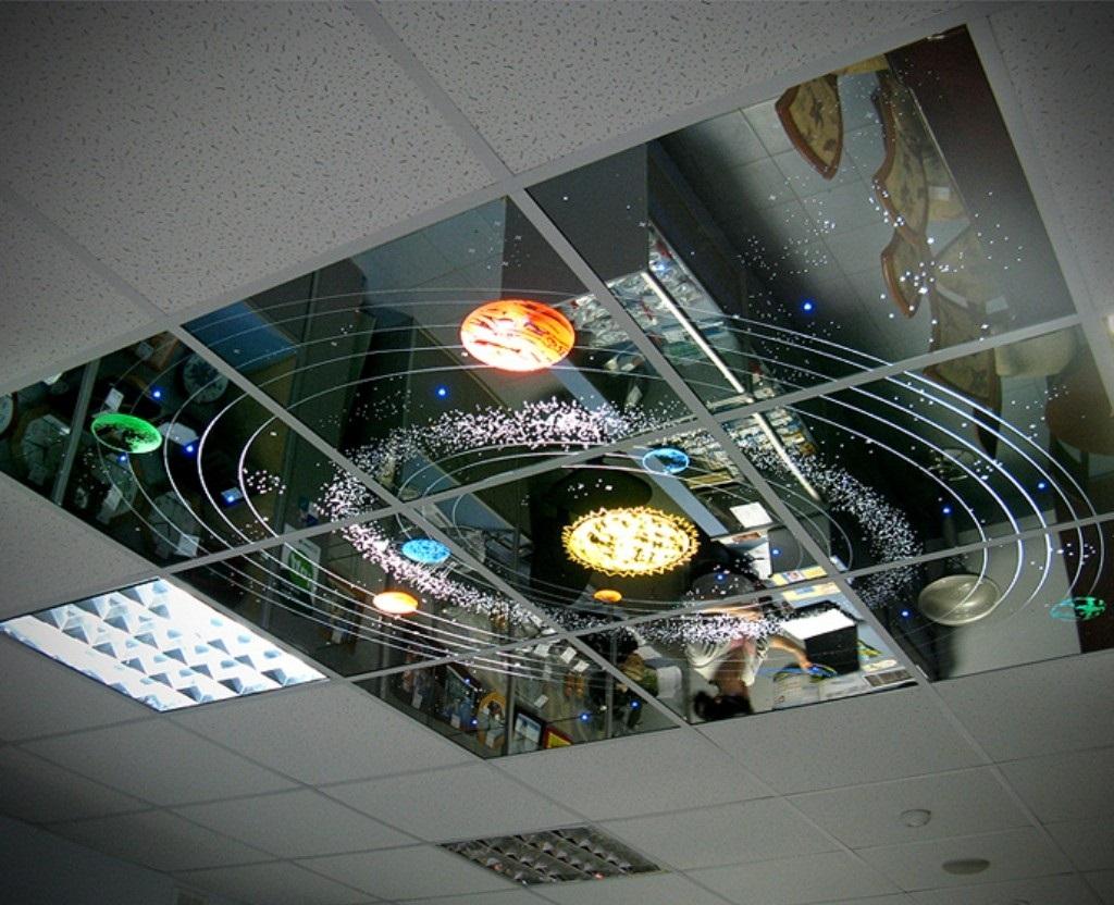 Зеркальный потолок Солнечная система