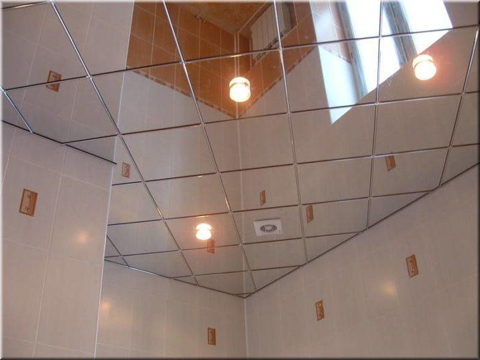 Зеркальный (стеклянный) подвесной потолок