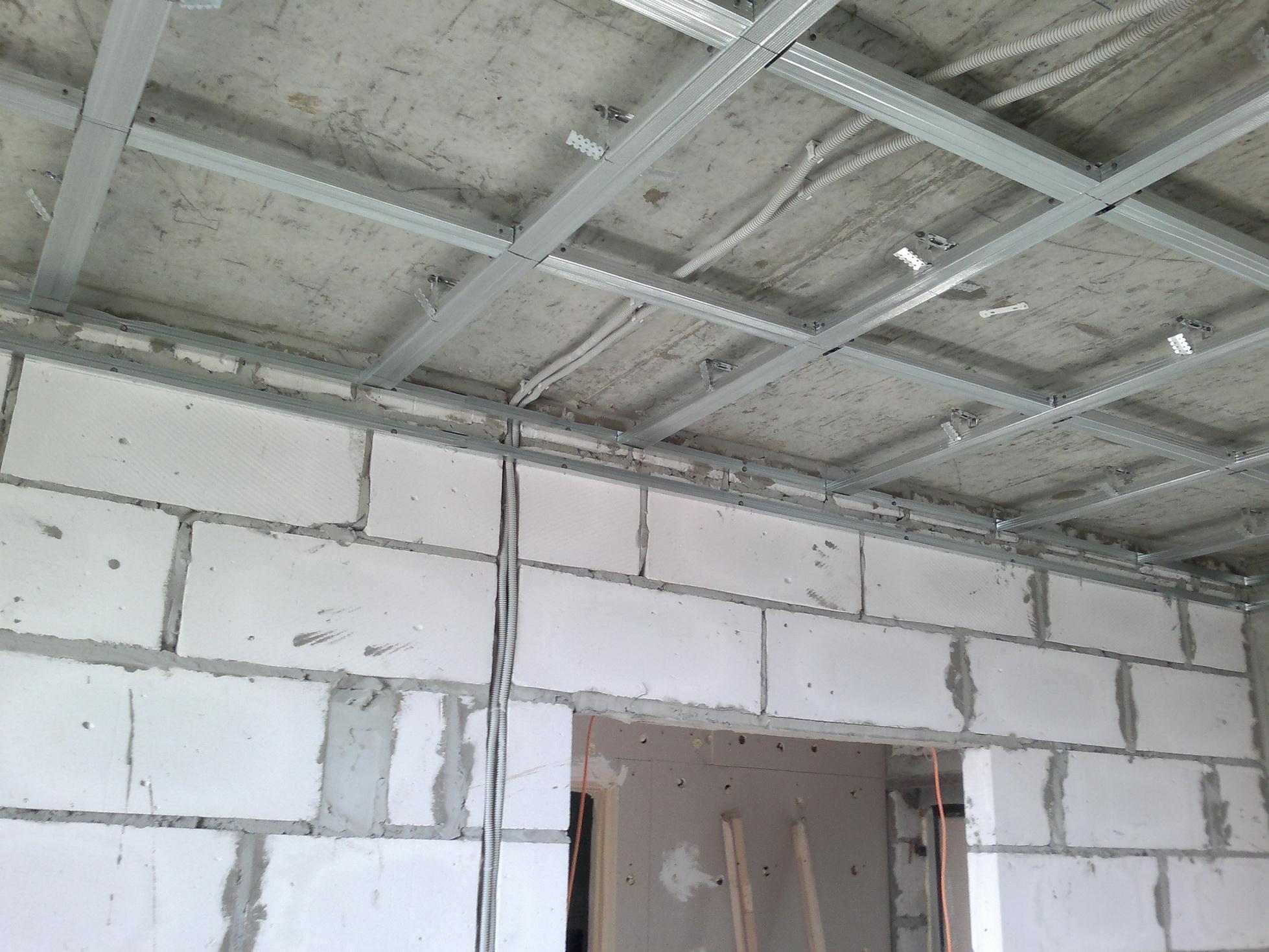 Подвесной потолок своими руками пошаговая инструкция с фото фото 962