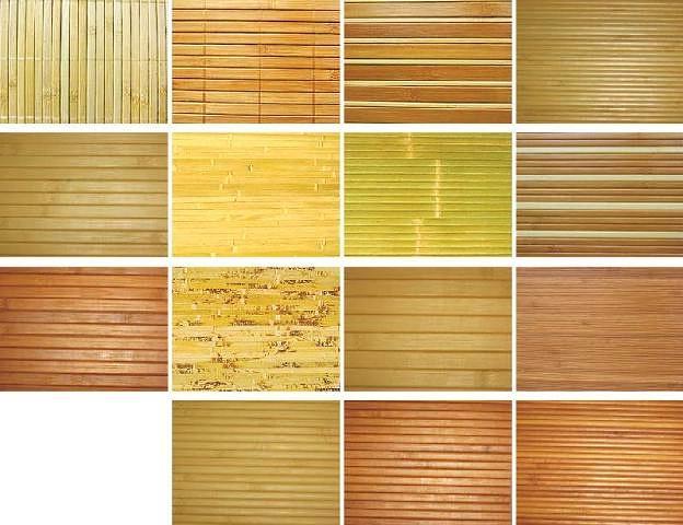 Варианты бамбуковых обоев