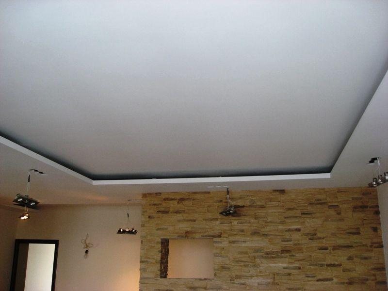 Навесной потолок из гипсокартона своими руками фото зал кухня вместе