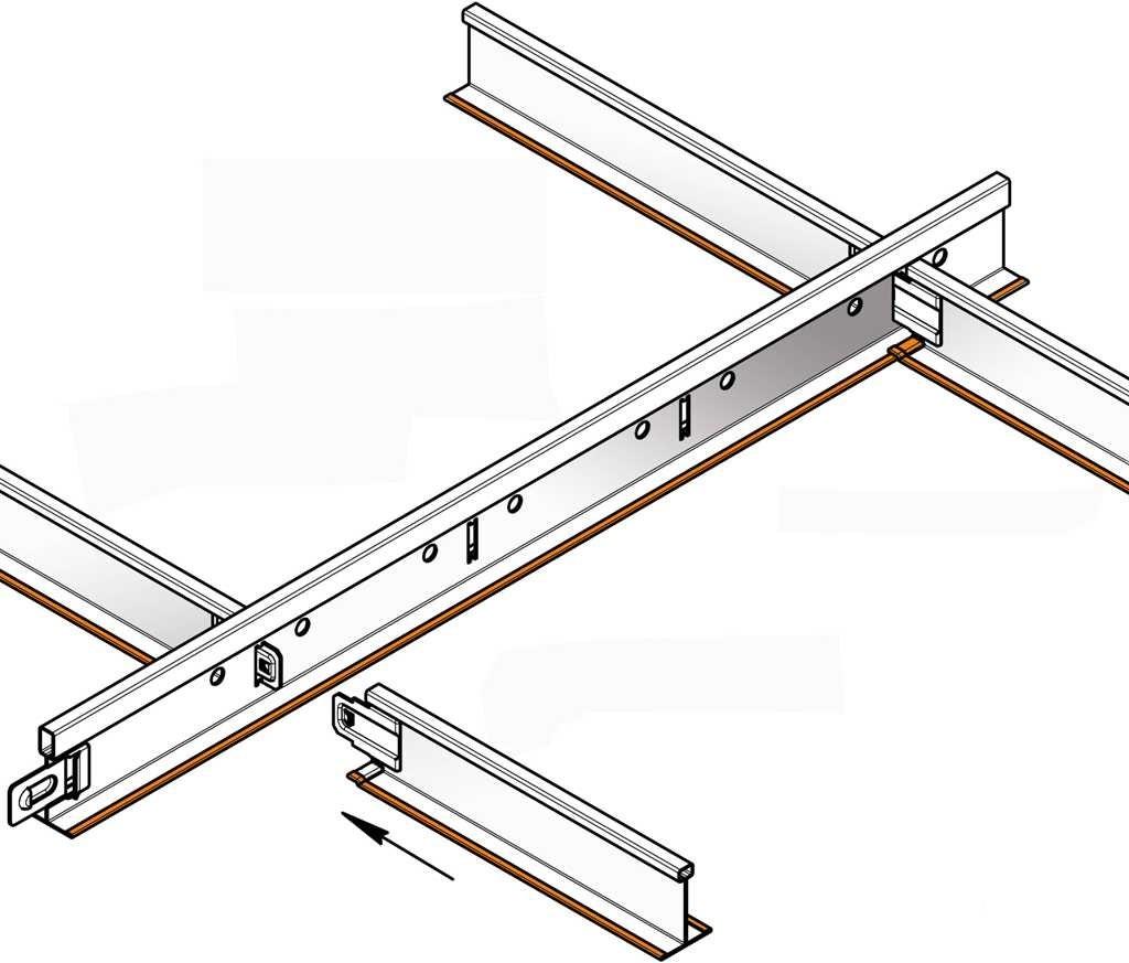 Промежуточные профили для кассетных потолков