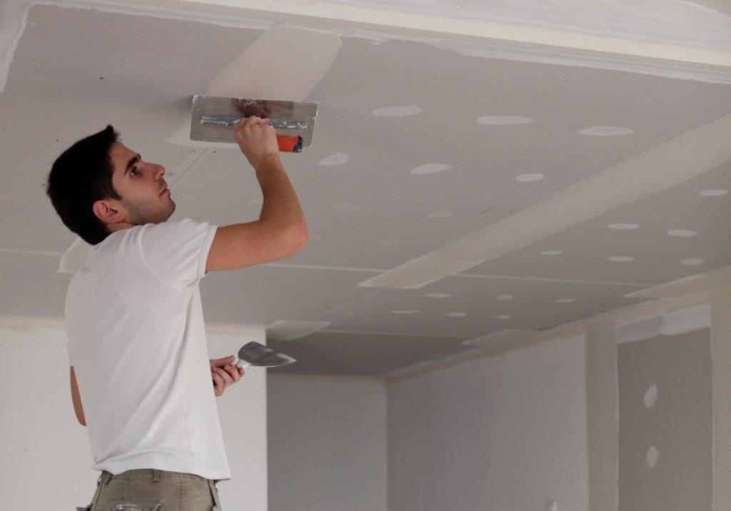 Как сделать потолок обоями 123
