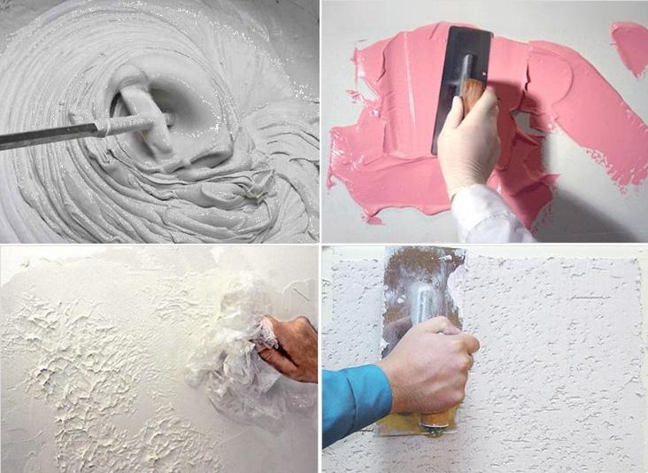 как делается декоративная штукатурка